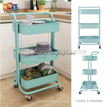 3 TIER TROLLEY CART